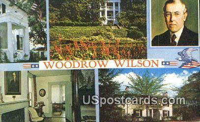Woodrow Wilson Birthplace - Staunton, Virginia VA Postcard