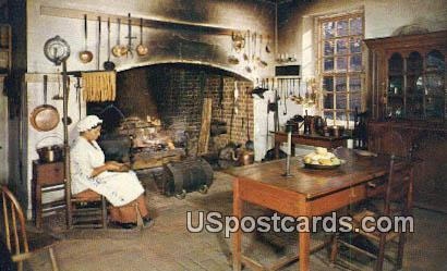 Kitchen at Governor's Palace - Williamsburg, Virginia VA Postcard