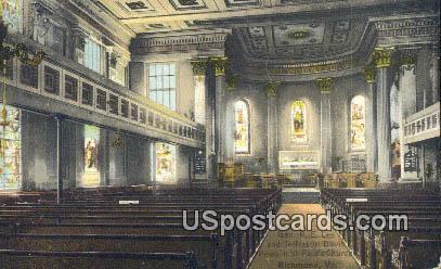 Jefferson Davis Pews, St Paul's Church - Richmond, Virginia VA Postcard