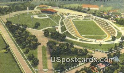 Lunchburg Municipal Stadium - Lynchburg, Virginia VA Postcard