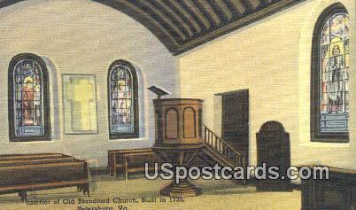 Old Blandford Church 1735 - Petersburg, Virginia VA Postcard