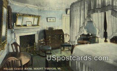 Nellie Custis's Room - Mount Vernon, Virginia VA Postcard