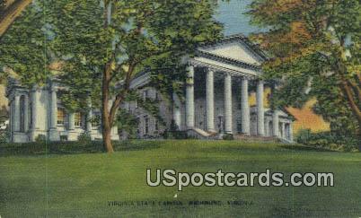 State Capitol - Misc, Virginia VA Postcard