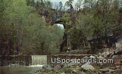 Water Falls - Natural Bridge, Virginia VA Postcard