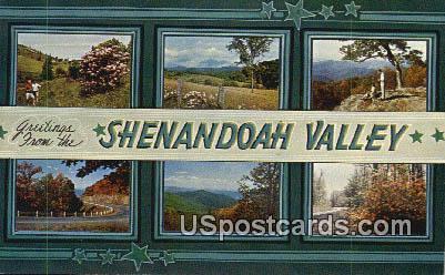 Shenandoah Valley, VA Postcard       ;         Shenandoah Valley, Virginia