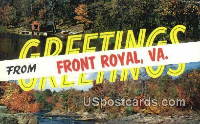 Front Royal, VA Postcard       ;         Front Royal, Virginia