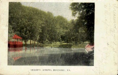 Crystal Spring - Roanoke, Virginia VA Postcard