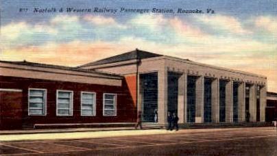 Western Railway Passenger Station - Roanoke, Virginia VA Postcard