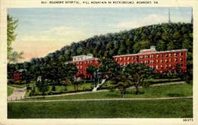 Roanoke Hospital - Virginia VA Postcard