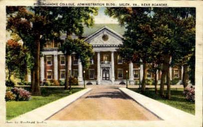 Roanoke College - Virginia VA Postcard
