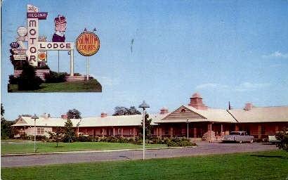 The Regina Motor Lodge - Roanoke, Virginia VA Postcard