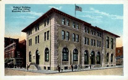 Federal Building - Roanoke, Virginia VA Postcard