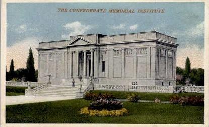 The Confederate Memorial Institue  - Richmond, Virginia VA Postcard