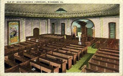 John's Chsurch - Richmond, Virginia VA Postcard