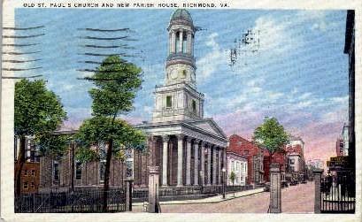Old St. Paul's Church - Richmond, Virginia VA Postcard