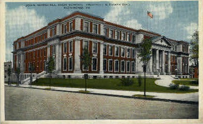 John Marshall High School - Richmond, Virginia VA Postcard