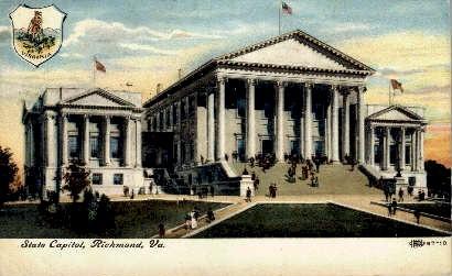 State Capitol - Richmond, Virginia VA Postcard