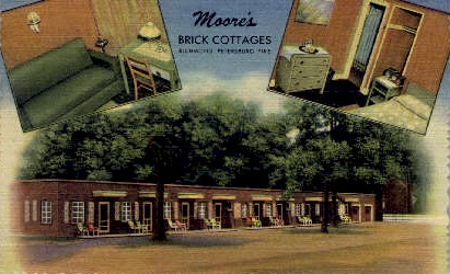 Moore's Brick Cottage - Richmond, Virginia VA Postcard