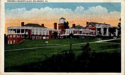 Virginia Country Club - Richmond Postcard