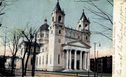 Cathedral Of The Sacred Heart  - Richmond, Virginia VA Postcard