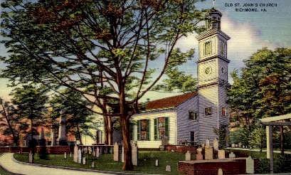 Old St. Johns Church - Richmond, Virginia VA Postcard