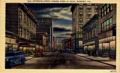 Jefferson Street - Richmond, Virginia VA Postcard