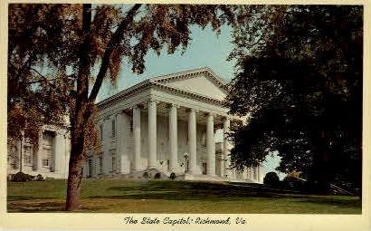 The State Capitol - Richmond, Virginia VA Postcard