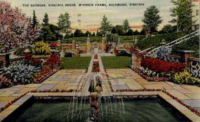 The Gardens - Richmond, Virginia VA Postcard