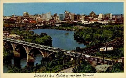 Southside - Richmond, Virginia VA Postcard