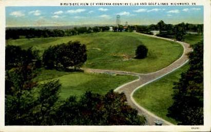 Birds Eye View - Richmond, Virginia VA Postcard