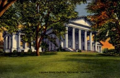 Virginia State Capitol - Richmond Postcard