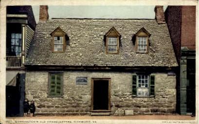 Washington's Old Headqaurters - Richmond, Virginia VA Postcard