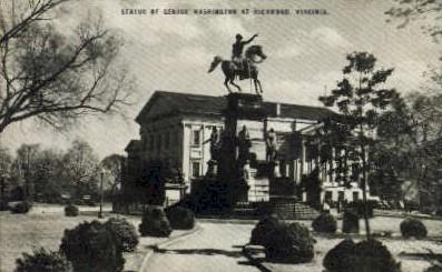 Statue Of George Washington - Richmond, Virginia VA Postcard
