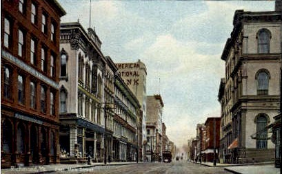 East Main Street - Richmond, Virginia VA Postcard
