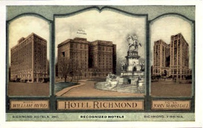 Richmond Hotels - Virginia VA Postcard
