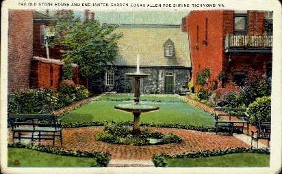 The Old Stone House - Richmond, Virginia VA Postcard