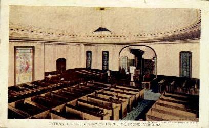 St. John's Church - Richmond, Virginia VA Postcard