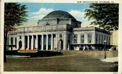 New Union Station - Richmond, Virginia VA Postcard