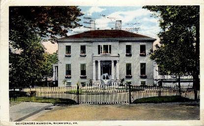 Governer's Mansion - Richmond, Virginia VA Postcard