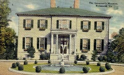 The Governer's Mansion - Richmond, Virginia VA Postcard