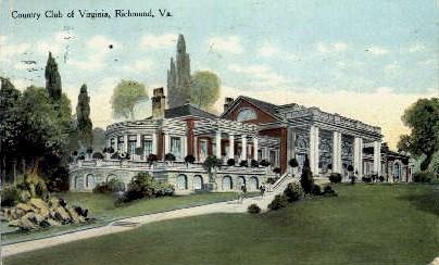 Country Club Of Virginia - Richmond Postcard