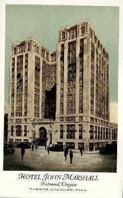 Hotel John Marshall - Richmond, Virginia VA Postcard