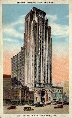 Central National Bank Building - Richmond, Virginia VA Postcard