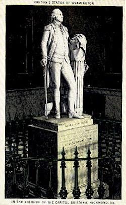 Houdon's Statue Of Washington - Richmond, Virginia VA Postcard