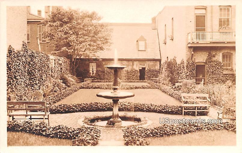Garden at Edgar Allen Poe Shrine - Richmond, Virginia VA Postcard