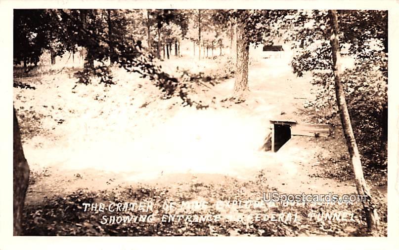 Crater of Mine Exploded July 30, 1864 - Salt Lake City, Virginia VA Postcard