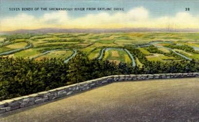 Seven Bends  - Shenandoah National Park, Virginia VA Postcard
