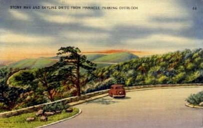 Pinnacle Parking Overlook - Shenandoah National Park, Virginia VA Postcard