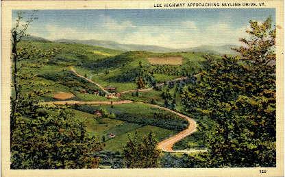 Skyline Drive - Lurray, Virginia VA Postcard