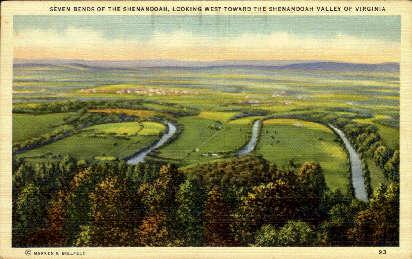 Seven Bends  - Woodstock, Virginia VA Postcard